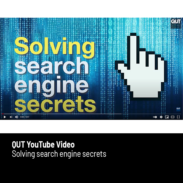 Link to QUT YouTube video about the Australian Search Experience