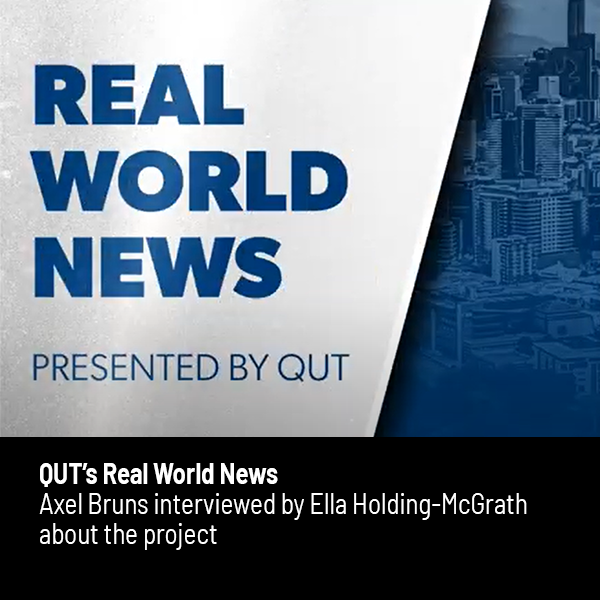 Link to QUT Real World News segment on the Australian Search Experience project