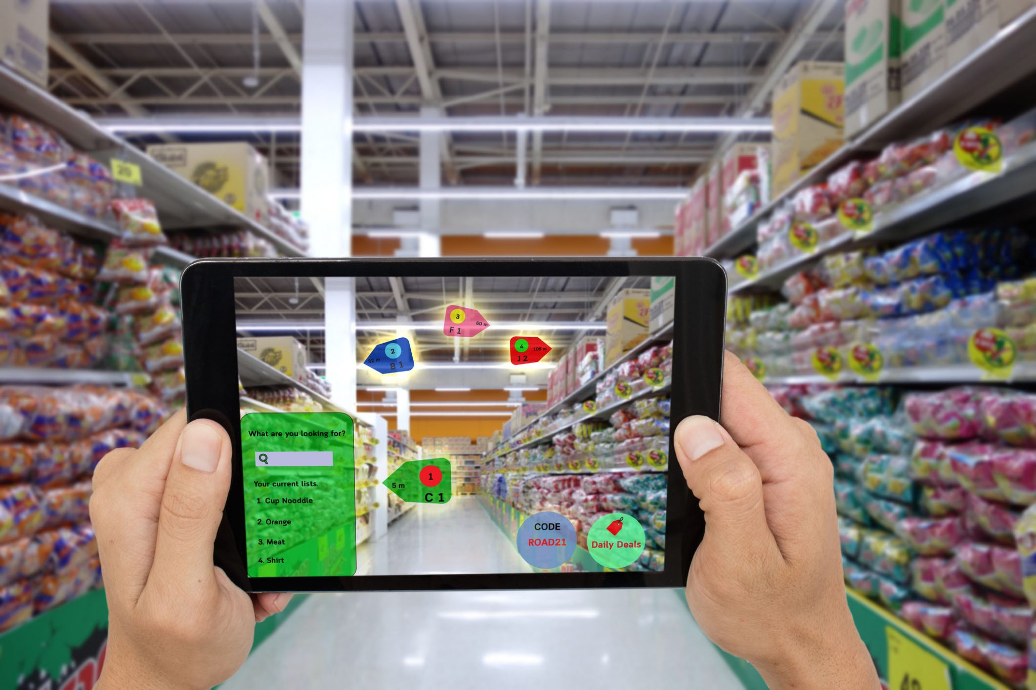 Internet of things marketing concepts,smart augmented reality